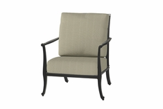 The Raven Collection Commercial Cast Aluminum Stationary Club Chair