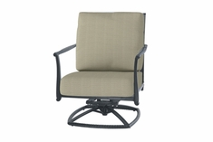 The Raven Collection Commercial Cast Aluminum Swivel Club Chair