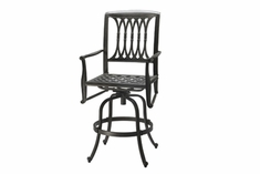 The Raven Collection Commercial Cast Aluminum Swivel Counter Height Chair