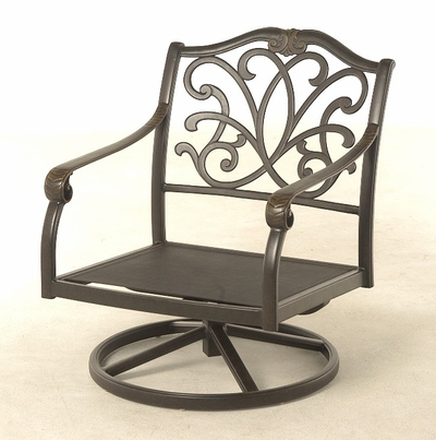 The Regency Collection Commercial Cast Aluminum Swivel Club Chair