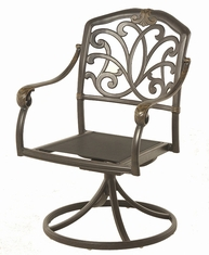 The Regency Collection Commercial Cast Aluminum Swivel Dining Chair