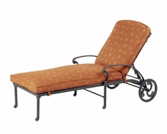 The Romana Collection Commercial Cast Aluminum Chaise Lounge