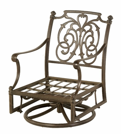 The Romana Collection Commercial Cast Aluminum Club Swivel Glider