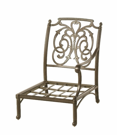 The Romana Collection Commercial Cast Aluminum Left Club Chair