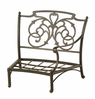 The Romana Collection Commercial Cast Aluminum Left Crescent Club Chair