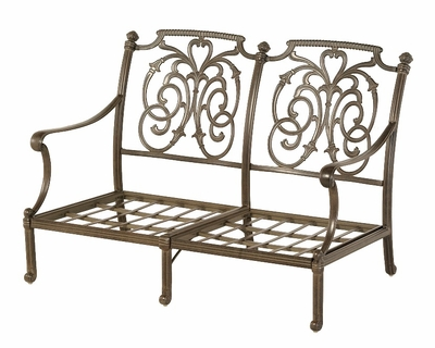 The Romana Collection Commercial Cast Aluminum Loveseat
