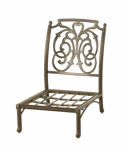 The Romana Collection Commercial Cast Aluminum Middle Club Chair
