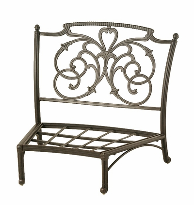 The Romana Collection Commercial Cast Aluminum Middle Crescent Club Chair