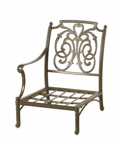 The Romana Collection Commercial Cast Aluminum Right Club Chair