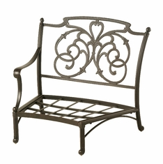 The Romana Collection Commercial Cast Aluminum Right Crescent Club Chair