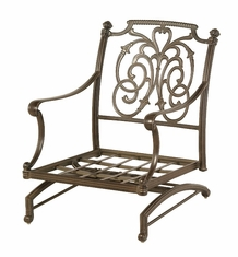 The Romana Collection Commercial Cast Aluminum Spring Base Club Chair