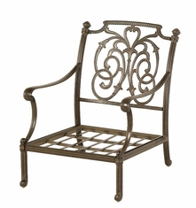 The Romana Collection Commercial Cast Aluminum Stationary Club Chair