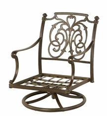 The Romana Collection Commercial Cast Aluminum Swivel Club Chair