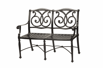 The Roza Collection Commercial Cast Aluminum Bench