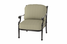 The Roza Collection Commercial Cast Aluminum Stationary Club Chair