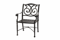 The Roza Collection Commercial Cast Aluminum Stationary Dining Chair