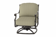 The Roza Collection Commercial Cast Aluminum Swivel Club Chair