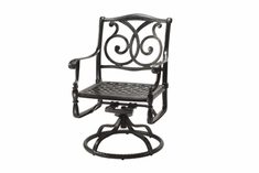 The Roza Collection Commercial Cast Aluminum Swivel Dining Chair