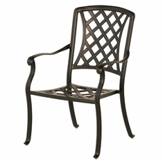 The Santiago Collection Commercial Cast Aluminum Stationary Dining Chair