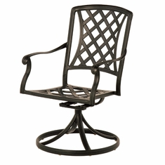 The Santiago Collection Commercial Cast Aluminum Swivel Dining Chair