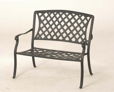 The Santiago Collection Commercial Cast Aluminum Bench