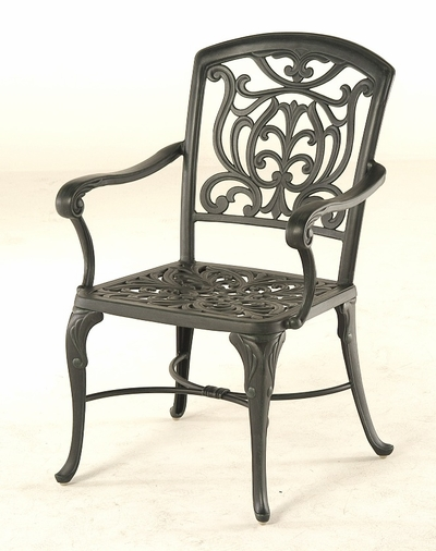 The Sari Collection Commercial Cast Aluminum Stationary Dining Chair