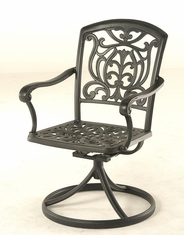 The Sari Collection Commercial Cast Aluminum Swivel Dining Chair