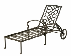 The Scala Collection Commercial Cast Aluminum Chaise Lounge
