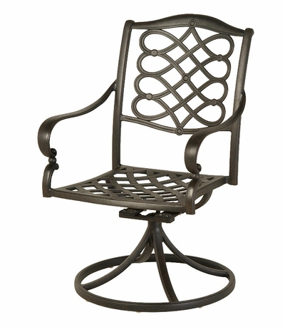 The Scala Collection Commercial Cast Aluminum Swivel Dining Chair