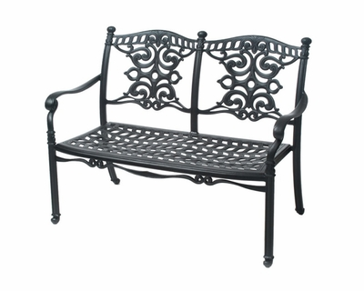 The Serena Collection Commercial Cast Aluminum Bench