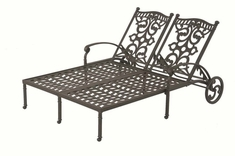 The Serena Collection Commercial Cast Aluminum Double Chaise Lounge