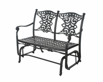 The Serena Collection Commercial Cast Aluminum Double Glider