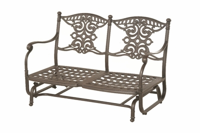 The Serena Collection Commercial Cast Aluminum Loveseat Glider