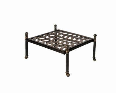 The Serena Collection Commercial Cast Aluminum Ottoman