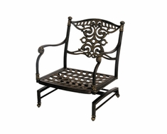 The Serena Collection Commercial Cast Aluminum Spring Base Club Chair