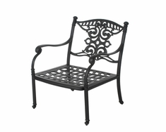 The Serena Collection Commercial Cast Aluminum Stationary Club Chair