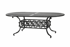 "The Shara Collection Commercial Cast Aluminum 42"" x 86"" Oval Dining Table"