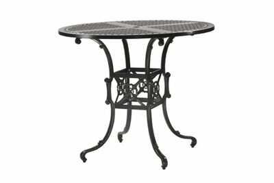 """The Shara Collection Commercial Cast Aluminum 48"""" Round Pedestal Bar Height Table"""