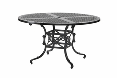 "The Shara Collection Commercial Cast Aluminum 54"" Round Dining Table"
