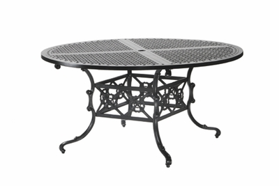 "The Shara Collection Commercial Cast Aluminum 60"" Round Dining Table"