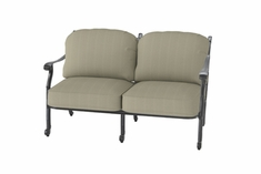 The Shara Collection Commercial Cast Aluminum Loveseat