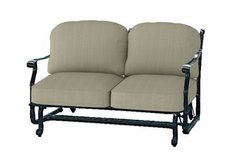 The Shara Collection Commercial Cast Aluminum Loveseat Glider