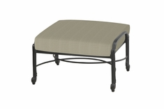 The Shara Collection Commercial Cast Aluminum Ottoman