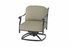 The Shara Collection Commercial Cast Aluminum Swivel Club Chair