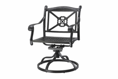 The Shara Collection Commercial Cast Aluminum Swivel Dining Chair