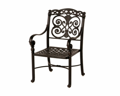 The Sierra Collection Commercial Cast Aluminum Stationary Dining Chair