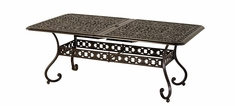 "The Sierra Collection Commercial Cast Aluminum 42"" x 76"" Rectangle Extension Table"