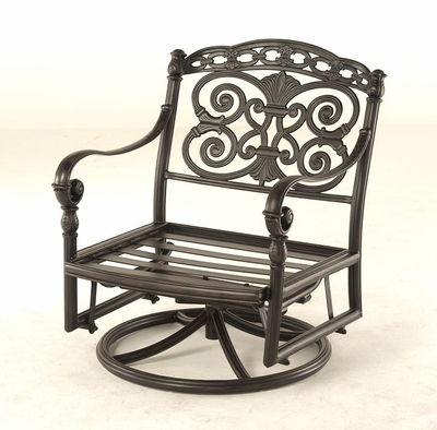 The Sierra Collection Commercial Cast Aluminum Club Swivel Glider Chair