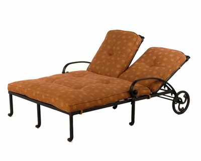The Sierra Collection Commercial Cast Aluminum Double Chaise Lounge