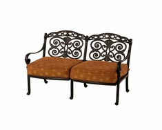 The Sierra Collection Commercial Cast Aluminum Loveseat